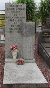 Sa sépulture au cimetière de l'Est à Lille