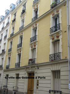 6, villa des Gobelins à Paris - aujourd'hui