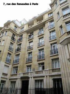 7, rue des Renaudes à Paris
