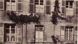 Sa maison natale à Recey-sur-Ource