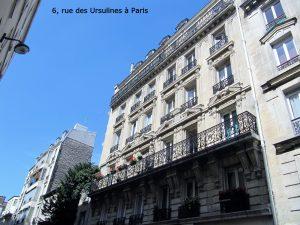 6, rue des Ursulines à Paris