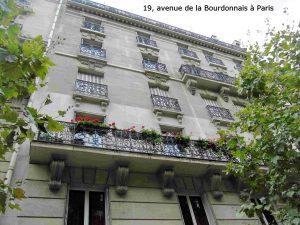 19, avenue de la Bourdonnais à Paris