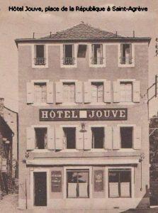 Hôtel Jouve, place de la République à Saint-Agrève