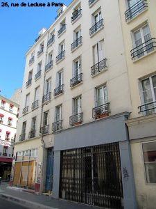 26, rue de Lécluse à Paris