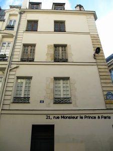 21, rue Monsieur le Prince à Paris