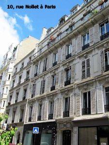 10, rue Nollet à Paris