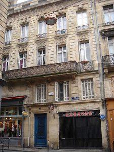Sa maison natale à Bordeaux