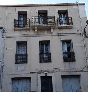 Sa maison natale à Sète