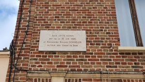 Sa maison natale à Amiens - plaque