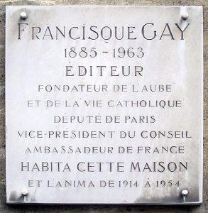 3, rue Garancière à Paris - plaque -
