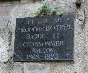 Sa maison natale à Dinan - plaque -